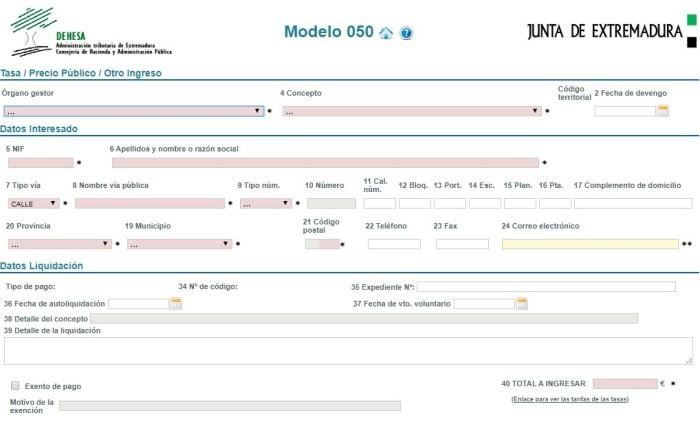 modelo 50 online